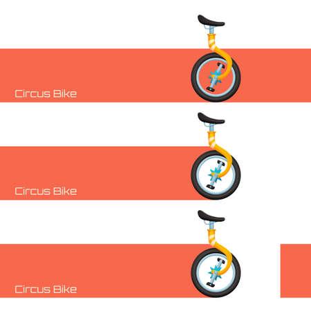circus bike: Circo de bicicletas y Banner