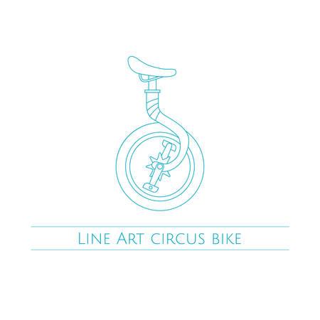 circus bike: Arte Circo Bike Vectores