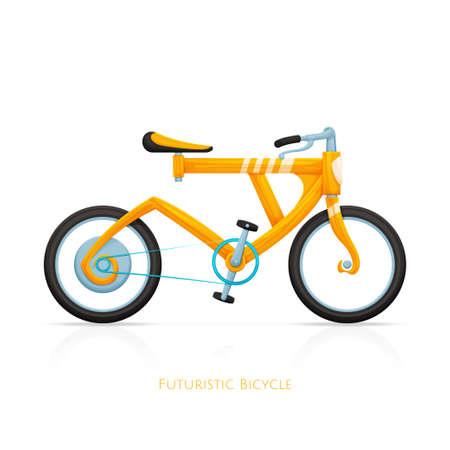 handlebars: Futuristic Bicycle Illustration