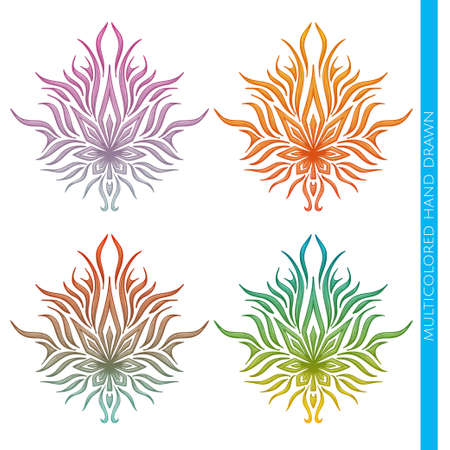 Colored abstract pattern on a white background marijuana. Painted by hand and can be used to print Tshirts or any other surface as well as a tattoo.