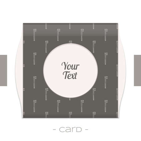 forging: Greeting card with a pattern of forging tools and place for text on a white background Illustration