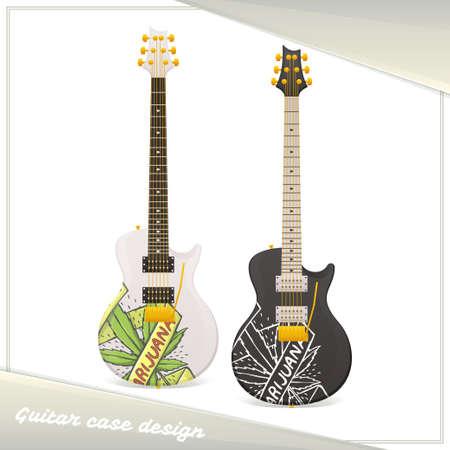 Medical Marijuana Guitar Eight Illustration