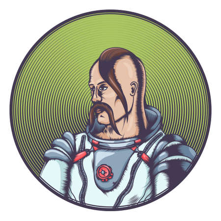 Cossack in Cosmonaut Costume