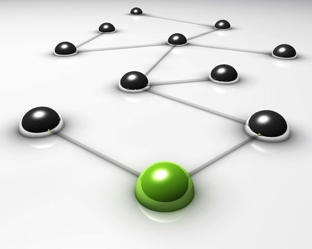 Abstract demonstration of network and communication - 3D photo