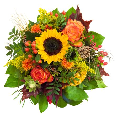 Isolated beautiful and colorful bouquet Standard-Bild