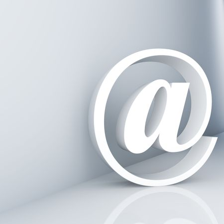 Rendering of an e-mail symbol