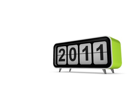 New year 2011 concept in 3d Stock Photo
