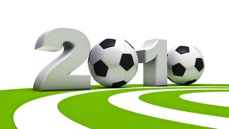 soccer wm: Renderizaci�n 3D abstracto de la Copa del mundo de F�tbol 2010