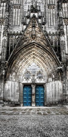 gothic cathedral in magdeburg germany photo