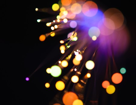 detail view of different defocused colorful light dots
