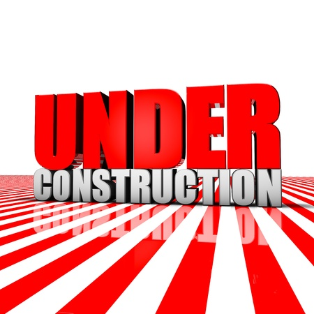 Rendering of an under construction text Stock Photo