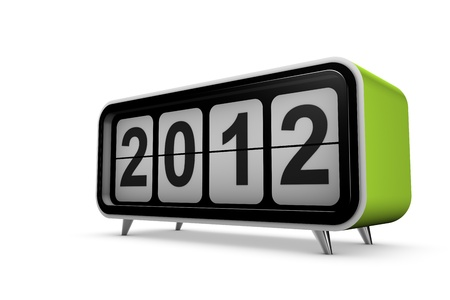 New year 2012 concept in 3d