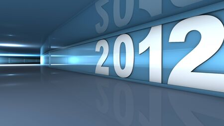 New year 2012 concept in 3d Stock Photo - 11041443
