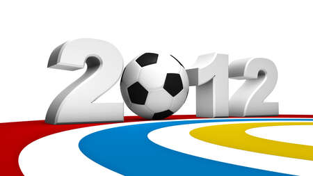 uefa: Abstract 3D rendering of soccer uefa euro 2012 Stock Photo
