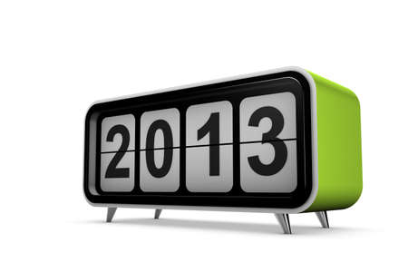 New year 2013 concept in 3d photo