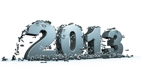 New year 2013 concept in 3d Stock Photo