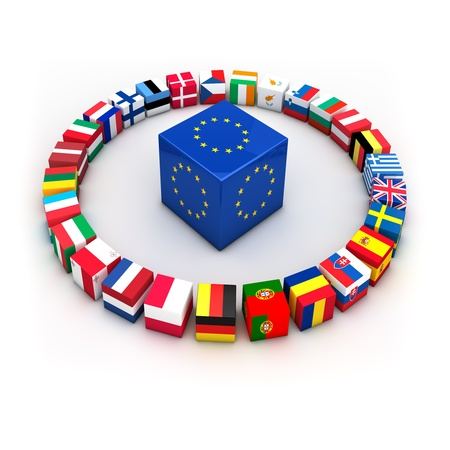 european union: Abstract demonstration of greece as member of the european union