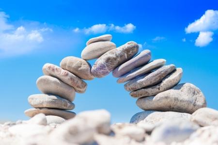zen steine: Abstrakt Demonstration von Balance und Stabilit�t