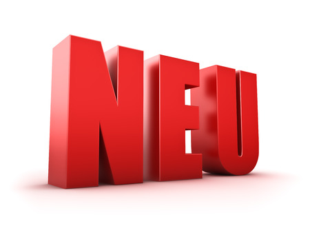 Rendering of a  Neu  text on white background