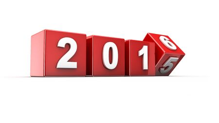 newyear: New year 2015 to 2016 concept in 3d Stock Photo