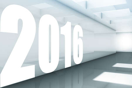 newyear: New year 2016 concept in 3d