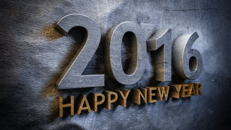 newyear: Happy new year 2016 concept in 3d