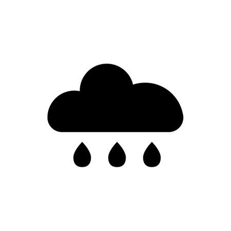 Cloud vector icon. Illustration isolated for graphic and web design. Vectores