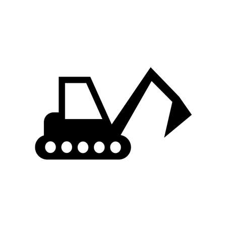 Excavator vector icon. Illustration isolated for graphic and web design Çizim