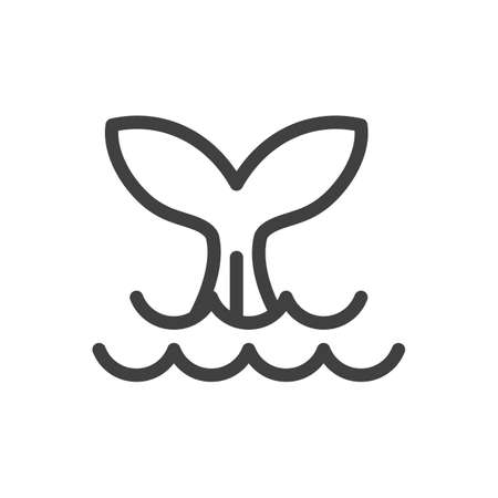 Fishtail vector icon. Illustration isolated for graphic and web design. Illustration