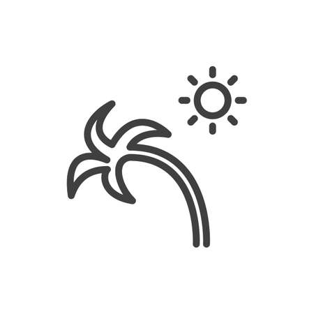 Palm vector icon. Illustration isolated for graphic and web design.