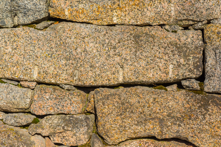 Old stone wall details Stock Photo