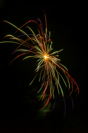 Small firework explosions Stock Photo - 81544877