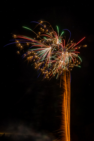 Small firework explosions Stock Photo - 81563715
