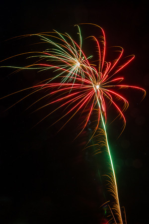Small firework explosions Stock Photo - 81563316