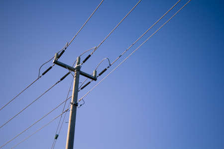 metal pole: Supply of Electricity. Industry of power and energy