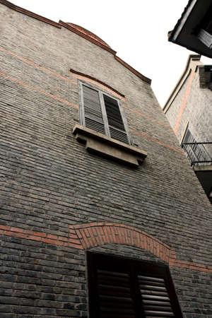 Siedlungsstruktur und Gebäude, die in China in den 30er und 40er Jahren gebaut wurde Standard-Bild - 12641664