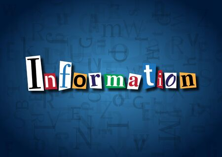 acquaintance: The word Information made from cutout letters