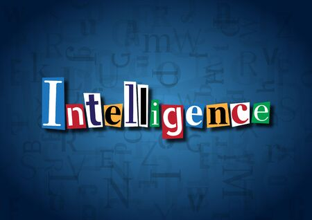 cuteness: The word Intelligence made from cutout letters Stock Photo