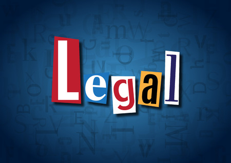 legitimate: The word Legal made from cutout letters