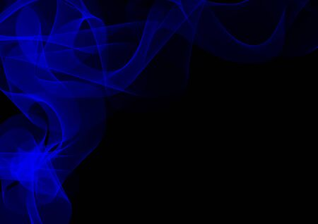 fume: Abstract waves or smoke background illustration in blue colors Stock Photo