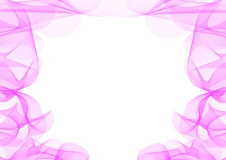 Abstract waves or smoke background illustration in pink colors