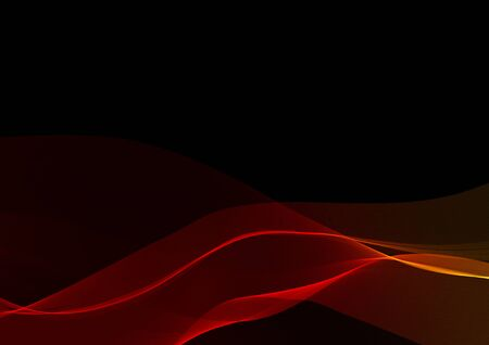 fume: Abstract waves or smoke background illustration in red colors Stock Photo