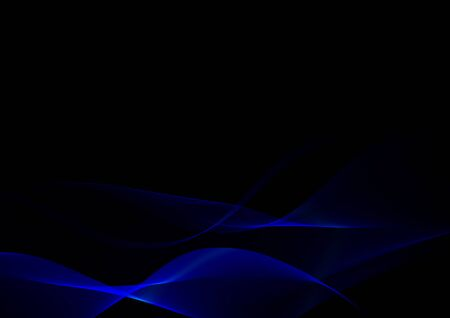 Abstract waves or smoke background illustration in blue colors Stock Photo