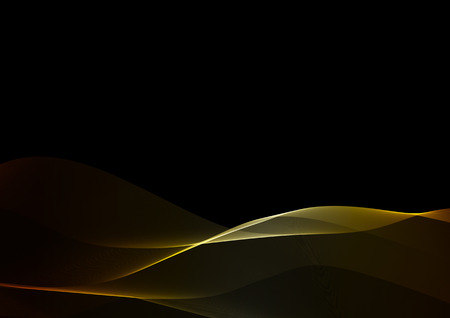 fume: Abstract waves or smoke background illustration in golden colors Stock Photo