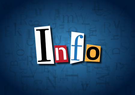 acquaintance: The word Info made from cutout letters Stock Photo