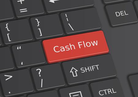 De woorden Cash Flow geschreven op een rode toets van het toetsenbord
