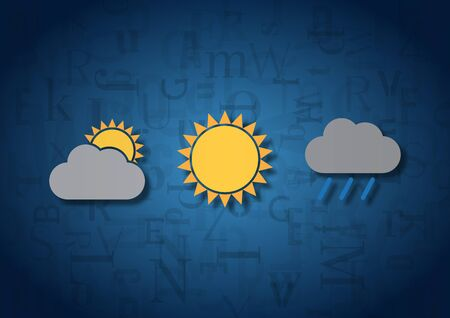 meteorological: An illustration of three meteorological signs Stock Photo