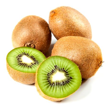 actinidia deliciosa: kiwi fruit isolated Stock Photo