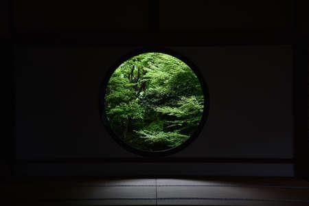 Kyoto round window Imagens