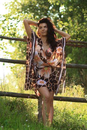 Modern rural girl. Country fashion. Stock Photo - 5633572